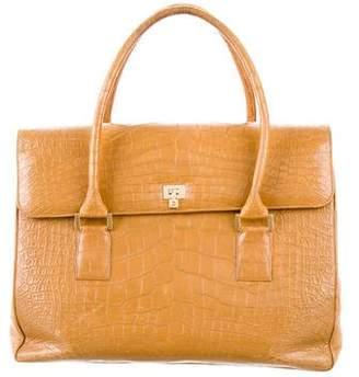 Lambertson Truex Alligator Handle Bag