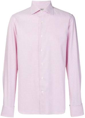 Canali micro print button-down shirt