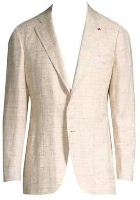 Isaia Textured Wool Blazer