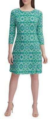 Tommy Hilfiger Mandala Jersey A-Line Dress