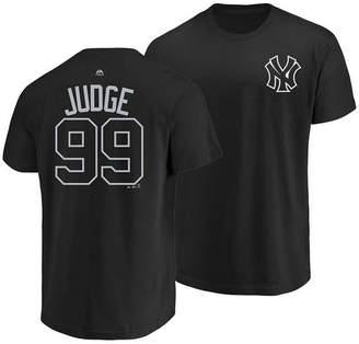 Majestic Men's Aaron Judge New York Yankees Pitch Black Player T-Shirt