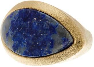 Rivka Friedman 18K Gold Clad Cat's Eye Shape Lapis Inlay Ring