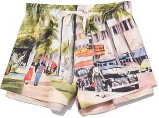 Monse Scenic Print Short in Multi
