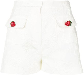 Dolce & Gabbana jacquard floral shorts