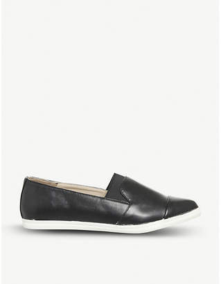 Office Fugi faux-leather slip-on trainers