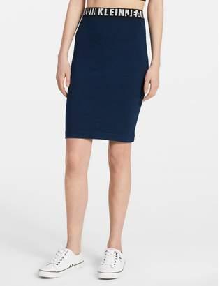 Calvin Klein logo seamless knit skirt