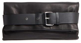 ALLSAINTS 'Large Zoku' Leather Clutch $298 thestylecure.com