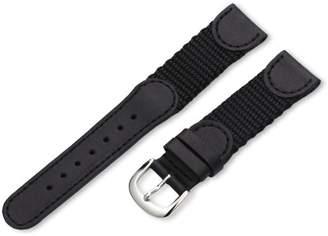 Victorinox Hadley-Roma Men's MSM866RA 190 19-mm 'Swiss-Army' Style Nylon and Leather Watch Strap