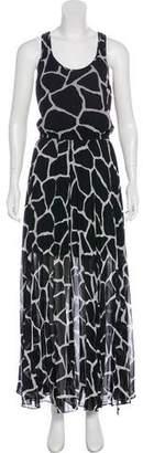 MICHAEL Michael Kors Patterned Sleeveless Maxi Dress