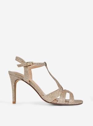 dd605282b Dorothy Perkins Womens **Showcase Gold 'Belter' Heeled Sandals
