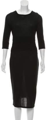 Karl Lagerfeld Paris Knit Midi Dress Black Knit Midi Dress