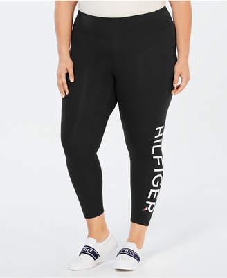 Tommy Hilfiger Plus Size High-Rise Logo Leggings