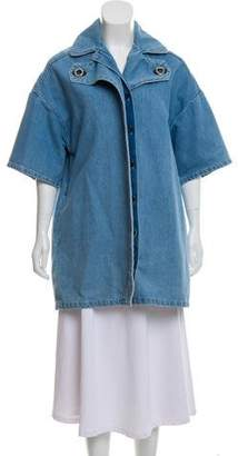 Kenzo Button-Up Denim Coat