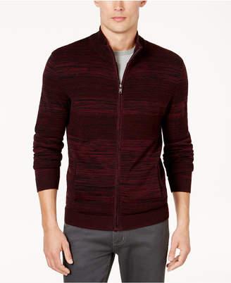 Alfani Men's Textured Full-Zip Cardigan, Created for Macy's $75 thestylecure.com