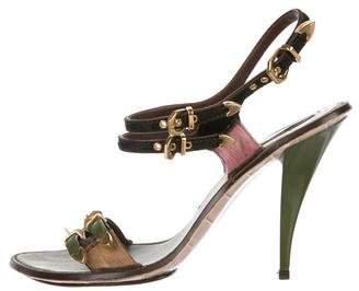 Louis Vuitton Ponyhair Colorblock Sandals