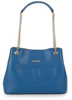 Love Moschino Embossed Heart Shoulder Bag