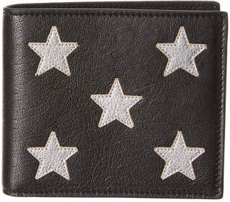 Saint Laurent Stars East/West Leather Bifold Wallet