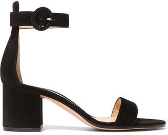 Gianvito Rossi Versilia 60 Suede Sandals - Black