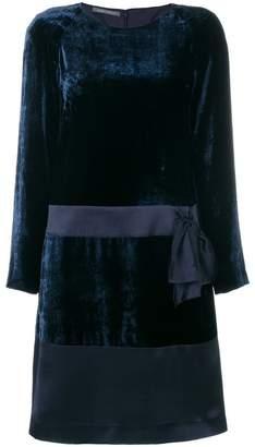 Alberta Ferretti bow-embellished velvet dress