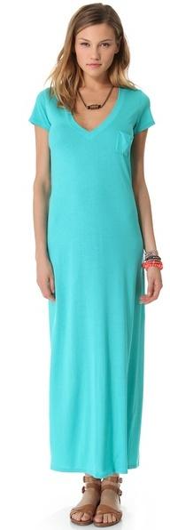 Blue Life Maxi V Neck Tee Dress