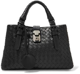 Bottega Veneta - Roma Mini Intrecciato Leather Tote - Black $2,850 thestylecure.com