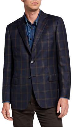 Brioni Men's Two-Tone Plaid Two-Button Jacket