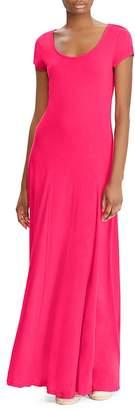 Lauren Ralph Lauren Cap Sleeve Maxi Dress