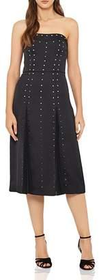 Reiss Abree Strapless Laser-Cut Dress