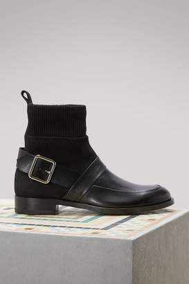 Pierre Hardy Suede Calfskin Ankle Boots
