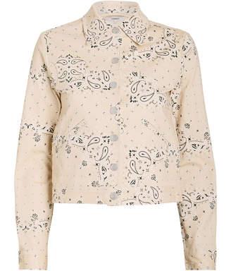 Miaou Lex Bandana Print Denim Jacket
