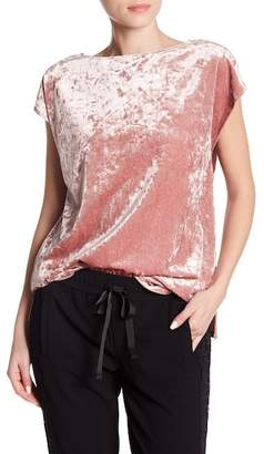 Vince Camuto Crushed Velvet Cap Sleeve Shirt