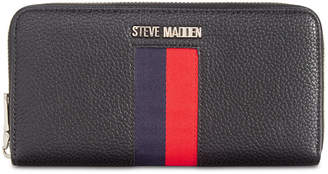 Steve Madden Natalie Webstripe Zip-Around Wallet
