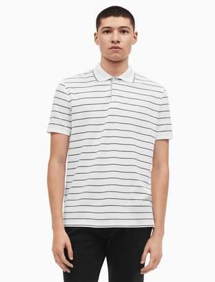 Calvin Klein regular fit pique auto stripe polo shirt