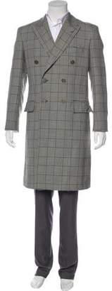 Calvin Klein Wool & Silk Overcoat