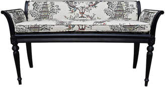 One Kings Lane Vintage French Chinoiserie Settee - Cannery Row Home