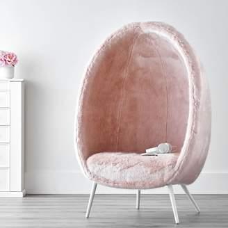 Pottery Barn Teen Iced Faux-Fur Blush Cave Chair