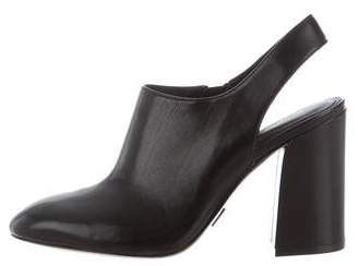 Michael Kors Leather Slingback Booties