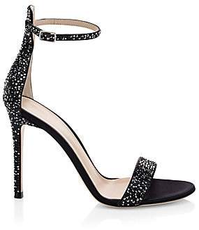 cffa84870ff9 Gianvito Rossi Women s Silk Crystal Ankle-Strap Sandals