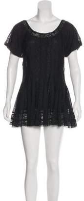 Lafayette 148 Short Sleeve Mini Dress