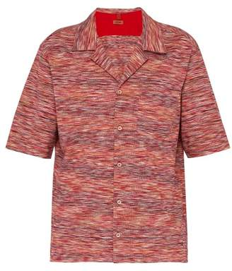 Missoni Striped Cotton Jersey Bowling Shirt - Mens - Pink Multi