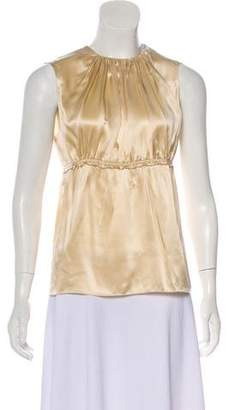 Prada Sleeveless Satin Top
