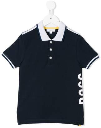 Boss Kids logo polo shirt