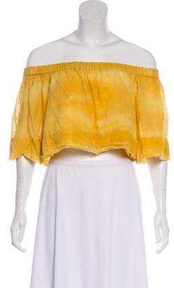 Raquel Allegra Off-The-Shoulder Crop Top