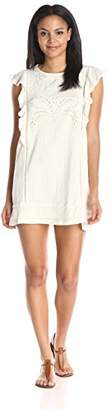 Moon River Women's Embroidered Shift Dress
