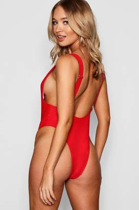 boohoo USA Cut Out Ring Detail Swimsuit