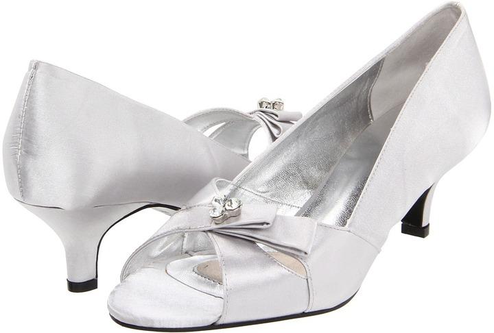 Bouquets Ada (Silver Satin) - Footwear