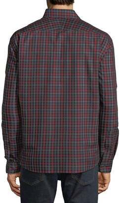 Neiman Marcus Men's Regular-Fit Twill Gingham Sport Shirt