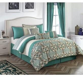 Nanshing Reina 7-Piece Bedding Comforter Set, Queen