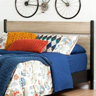 """South Shore Furniture South Shore Morice Mid-Century Modern Full/Queen Headboard (54""""/60''), Ebony and Rustic Oak"""