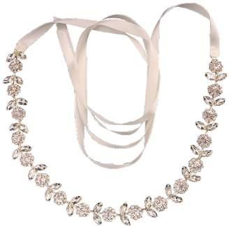 clear KIMAXBridal Vintage Gold Crystals Flowers Bridal Belt Rhinestone Belt and Sash